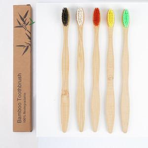 Bamboo escova de dentes de protecção ambiental de carbono escova log de bambu moagem escova ponto seda Travel Hotel Toothbrush