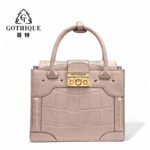 Gete новая сумка кожи крокодила для женщин личности способа мешок плеча кожаную сумку пакет Емкий Женская сумка Qx3s #