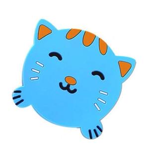 rilievo del silicone da tavola stuoia della tazza di isolamento del modello animale della Tabella del fumetto Decorare stile creativo della rana Panda Pig Cat