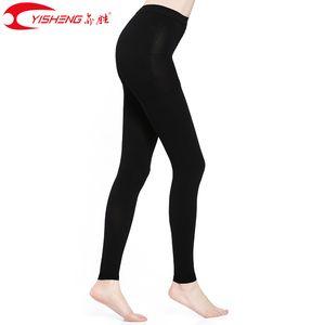 Yisheng 34-46mmHg Sıkıştırma Pantyhose Kadınlar Varis Sıkıştırma onda pantolon çorap