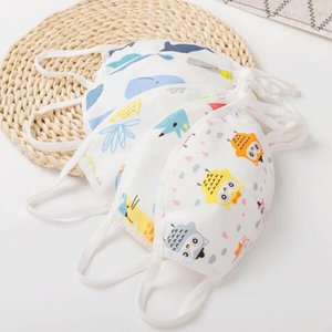0-5 year old baby children cartoon face mask 4 layer cotton reusable washable anti dust mouth facemask boy girl kid proective mask OWE2280