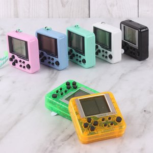 Tetris Machine Mini Game Player Keychain Portable Plastic Classic Toy Game Decompression Gift Electric Machine Education Kids Toy Gift INS
