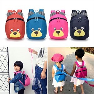 Fashion Children Backpack Anti lost Canvas Bag Cartoon Animal Bear Pattern Kindergarten Kids Baby School Bags 88 Best Sale