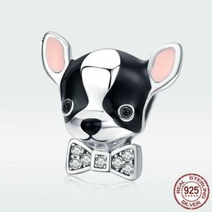 Cute incanta Pet Chihuahua cane ciondolo in argento sterling 925 gioielli doni rosa dello smalto di modo della ragazza Cina vendita Accessorize gioielli