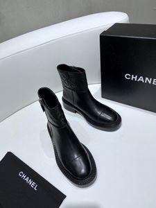 2020SS para mujer botas de cuero Top superficie de cuero de calidad con cremallera Botas para damas de luxe señoras de la plataforma botines motocycle # 3F