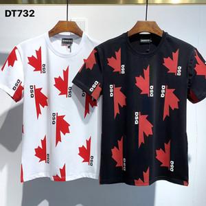 DSQ PHANTOM TURTLE 2020FW جديد قميص رجالي مصمم T قميص إيطاليا الأزياء بلايز الصيف DSQ نمط تي شيرت ذكر أعلى جودة 100٪ قطن الأعلى 7527