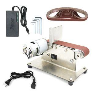Professional Horizontal Belt Sander Mini Elétrico Correia Grinding Sander Multifuncional Grinder DIY Polimento de moagem Polidor