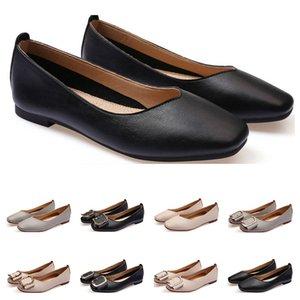 2020 dames de haute qualité lager chaussure plate taille 33-43 femmes fille cuir mocassin nue gris noir Nouveau arrivel mariage Groupe de travail Souliers formels