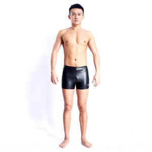 lMfmv gqMtf troncos cortos calientes boxeador caliente de las mujeres de la PU de los hombres de terciopelo Baiya tocar fondo natación Hongxing traje de baño fisiológicos