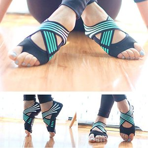 3 Colors Fashion Women's Non-slip Yoga Fitness Dance Pilates Socks Indoor Anti-skid Yoga Shoes Gym Socks Ladies Sports Socks