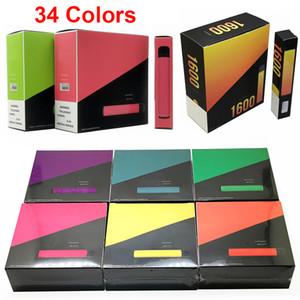 Top à usage unique Vape Puff Bar XXL plus Puff cigarettes électroniques jetables plus Vape Pen 400 800 1600 Puffs Multi Couleurs 10pcs / Paquet