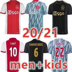 men + kids 20 21 AJAX amsterdam FC soccer jersey 2020 2021 PROMES ÁLVAREZ TADIC NERES VAN BEEK football shirts uniforms maillot away third