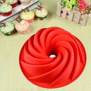 Useful Large Spiral Shape Bundt Cake Pan Bread Chocolate Bakeware Silicone Mold Bread Fondant Cake Pan Mold DIY Baking Tools