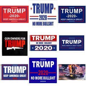90 * 150см Дональд Трамп Флаги 2020 Trump Keep America Make Great Flag 11 Стили Trump Поезд партии Баннер Флаги # 326
