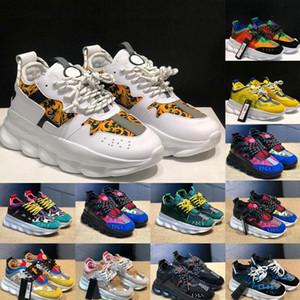 2020 hombres calientes de la moda cadena de zapatos casuales zapatilla de deporte de diseño de luz zapatos para mujer de los hombres zapatos casuales enlazan con relieve entrenador de 36 ~ 45