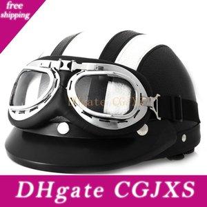 Kafa Koruma Sıcak Satış Retro Stil Motosiklet Kaskı 54 Gözlükler Güneş Kalkanı necklet Işık ile -60cm Ve Dayanıklı