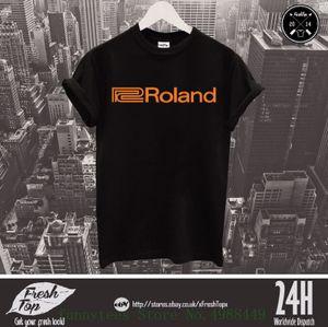 Roland Logo T Shirt Elektronik Musikinstrument Klavyeler Synthesizer T Gömlek O-Boyun Tops