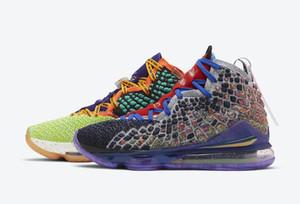 2020 LeBrons 17 XVII Que A Multi Color Homens tênis de basquete de vendas com caixa quente James 17 Boy Sneakers Tamanho US7-US12