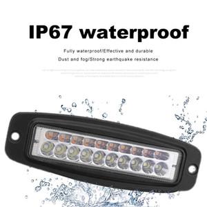 7 Inch Dual-Color 60W 20 LED Work Light Bar Flush Mount Driving Fog Lamp LED Light Bar Beam Driving Work Lights For Off Road