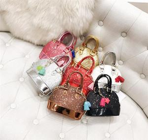 Bambini Mini Borse a tracolla per ragazze Shinning Glitter Borsellino per bambini Bambini Shell Sequin Borse con catena Borse carino 8 colori DB029