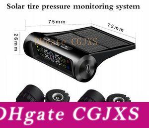 TPMS 자동차 타이어 압력 모니터링 시스템 태양 에너지 디스플레이 4 외부 센서 자동 경보 시스템 진단 도구