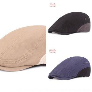 y Corea del estilo de las mujeres alcanzó su punto máximo en punta hacia adelante cap cap literaria boina boina boina de la juventud de los hombres del sombrero del sombrero del algodón bWxP9