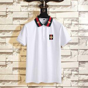 Printemps de luxe Italie T T-shirt Designer Polos High Street broderie Little Bee couleuvres rayées d'impression 2020 Vêtements pour hommes Marque nouvelle