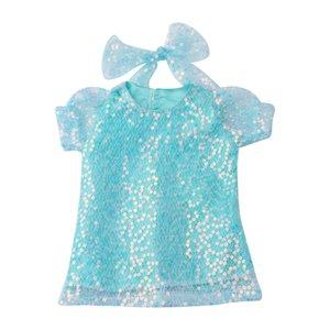 18 inç Doll için Kafa Aksesuarları Dedikodu ile Doll Giyim Seti Pullarda Gazlı bez Prenses Giydirme