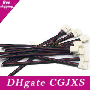 Led Şerit Bağlayıcı Tel 4pin 10mm Solderless Bağlayıcı Kablo 1 Başkanı ile 5050 3528 RGB Renk Led Şerit Işık için