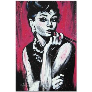 David Garibaldi Audrey Hepburn Home Decor dipinto a mano HD Dipinti Stampa Olio Su Tela Wall Art Immagini 200928