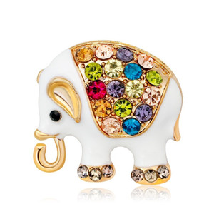 Thailand Elephant Shape Brooch Colorful Enamel Resin Brooches Pins For Women Kids Scarf Clothes Hat Accessories Jewelry