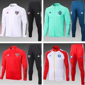 2021 브라질 상 파울로 축구 운동복 재킷 (21) 플라멩고 축구 훈련 정장 Chandal 재킷 camisas 드 Futebol 팀 팔메이 라스 운동복 A8