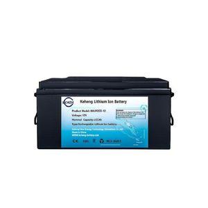 KH 12,8 V lifepo4 12v 200Ah Lithium-Batterie BMS 4S für Inverter Boote Wohnmobil UPS Go Cart Solar-Energiespeicher + 10A Lade