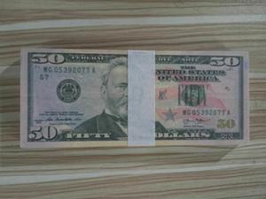 Dollaro caldo di vendita soldi falsi Film Prop 50 dollari banconota Conteggio Giochi Prop denaro festivi del partito Giocattoli Collezioni regalo 08