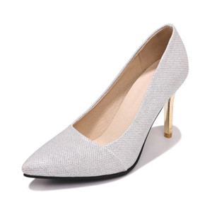 In the spring of 2020 sexy shining bride wedding shoes pointed high with fine with shallow mouth 30 18320-48 single shoes