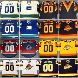 Vancouver Canucks Jersey personalizado con cualquier número Número de jerseys de hockey personalizado todo el orden de mezcla barata seleccionada