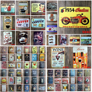 Pinturas de metal Placas de lata Bar Poster Mojito Cerveja Motor Plaque Art Sticker Ferro 20 * 30cm placas de ferro decorativa Bar Club Wall Decor DHF1247