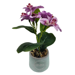 Potted artificial bonsai flower plant for home indoor decoration