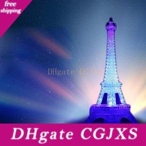 Coloré Tour Eiffel Veilleuse Paris Style Décoration Led Lampe de bureau Mode Chambre acrylique Lumière 50pcs / Lot