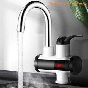 304 aço inoxidável cozinha quente e fria aquecimento elétrico de água quente torneira e ajuste Fria, indicador de temperatura