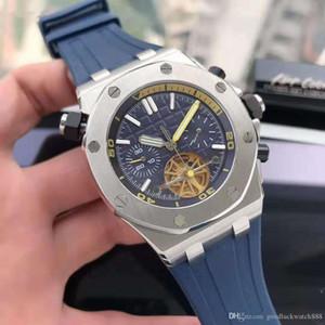 Orologi orologio meccanico 316L affinato in acciaio cinturino in caucciù automatico orologio da uomo di lusso 44 millimetri maschile reale serie di quercia