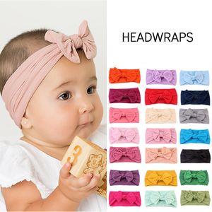 Детские конфеты цвета ободки лук Hairband младенца ленты для волос Детские девушки Nylon Elastic Knot оголовье малышей Детские аксессуары для волос головные уборы