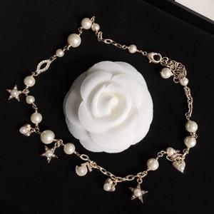 Мода женщина ожерелье Trend ожерелье жемчужное ожерелье звезды Сердце Длинные ожерелья шарма ювелирных изделий для подарка питания