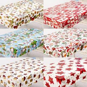 6Pcs Natale variopinto del PVC monouso Runner Tovaglie Stampate Table Cover Natale Decori