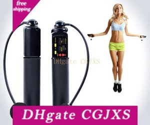 Electronic Wireless Rope Skipping Digital Calorie Counter Jump Ropes Fitness Sport Skipping Ropes Workout Cordless Ropes Indoor Outdoor Use