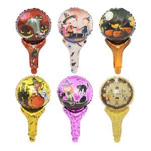 Cadılar Bayramı Süslemeleri Balon Kabak Karikatür Cadı Hediye Balonlar Çocuk Çocuk Boys Oyuncak Muti Renkler Şişme Çubuk 0 32yl C2