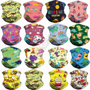 Kids Cartoon Sports Scarf face Masks Magic bandage Multi use Headbands Hairwraps facemasks Cycling cycle Neck Ring Headwear 84 Colors D83102