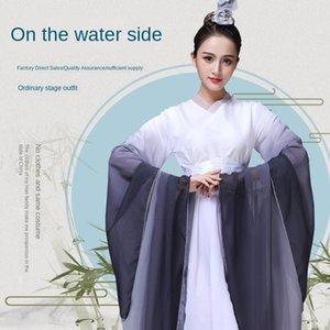 performance scénique améliorée créatif style vestimentaire de vêtements chinois Guzheng costume adulte guzheng Costume Film et Télévision