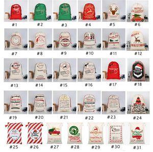 31 STYLES Christmas Gift Bags Xmas BagDrawstring Bag With Reindeers Santas Claus Sacks Bags For Santa Sack kid Bag4549