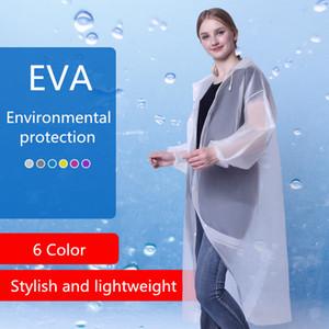 Raincoats For Adults EVA Environmental Protection Ourdoor Universal Single-person Rainwear 6 Colors Stylish Lightweight Household Sundries